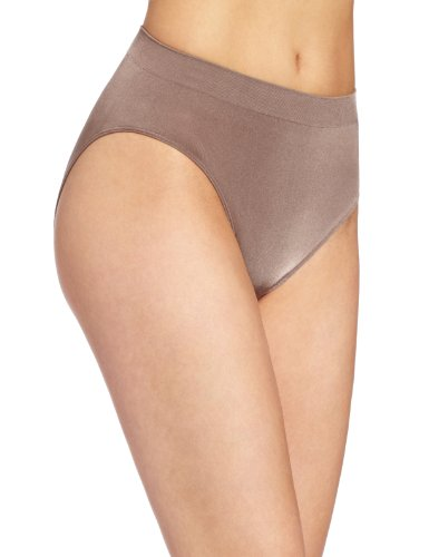 Wacoal Women's B Smooth Hi-Cut Panty Brief Panty, Cappuccino, X-Large
