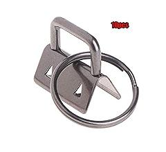 10Pcs 25mm Key Fob Hardware Split Ring For Wrist Wristlets Cotton Tail Clip MW