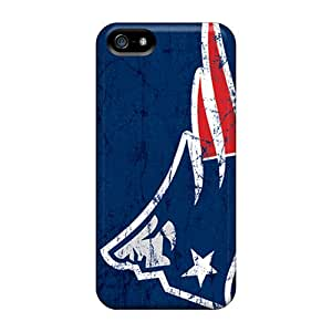 Shockproof Hard Cell-phone Case For Iphone 5/5s With Support Your Personal Customized HD New England Patriots Series DustinFrench