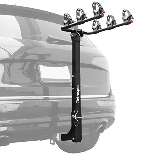 Retrospec Lenox Car Hitch Mount Bike Rack with 2-Inch Receiver; 3 Bicycle Carrier (Bike 3 Rack Receiver 2in)