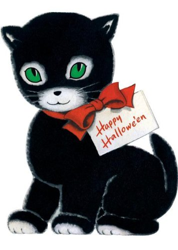 Happy Halloween Black Cat Halloween Greeting (Happy Halloween Greetings)