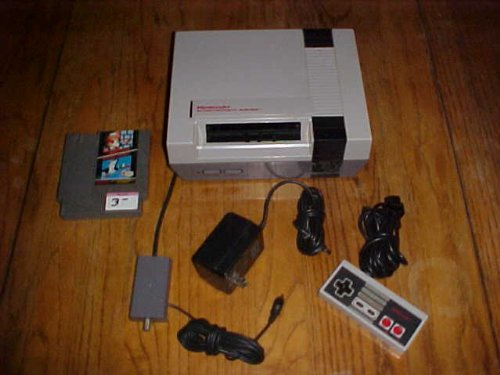 NES System with one controller, AC adapter, AV converter, Game: Mario Bors./Duck Hunt (Duck Hunt With Zapper)