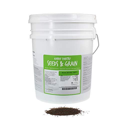 Organic Broccoli Sprouting Seeds by Handy Pantry | 30 Pound Reusable Bucket | Bulk Non-GMO Broccoli Sprouts Seeds, Contain Sulforaphane by Handy Pantry (Image #5)