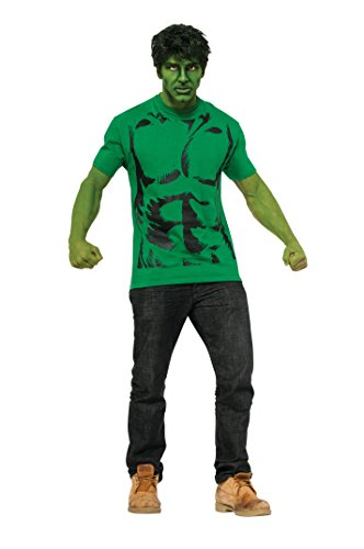 Rubie's Costume Men's Marvel Universe Hulk Adult Costume T-Shirt and Eye Mask, Multi, X-Large