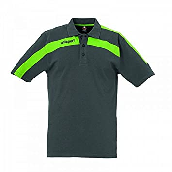 Uhlsport Liga Polo-Shirt, color - anthrazit/grün flash, tamaño ...