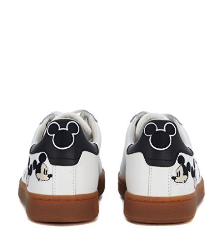 MOA Master of Arts Moa Sneakers Mickey Mouse in Leder Weiss Weiß