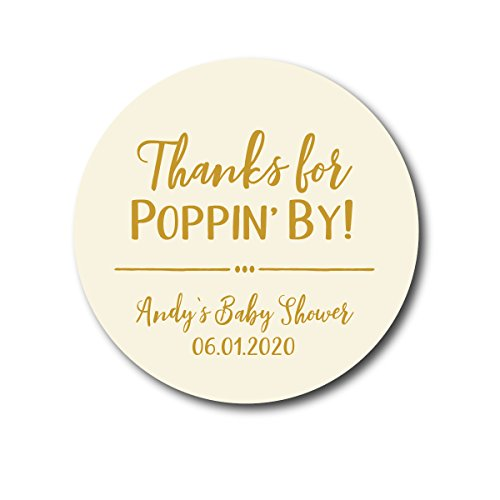 Thanks for Poppin By! Baby Shower Stickers -