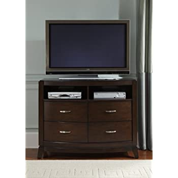 Amazon.com: Liberty Furniture Avalon Bedroom 5-Drawer Chest, Dark ...