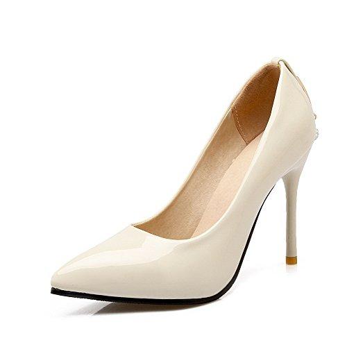 Stylet Couleur L Unie Pu Cuir Agoolar Tire Femme Pointu Chaussures qXw4zZzF