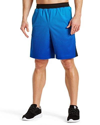 "Mission Mens VaporActive Element 9"" Basketball Shorts, Bright Blue Ombre, XX-Large"
