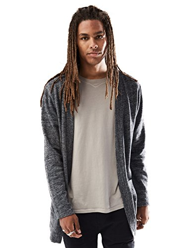 Rebel Canyon Young Men's Open Front Longline Sweatshirt Cardigan