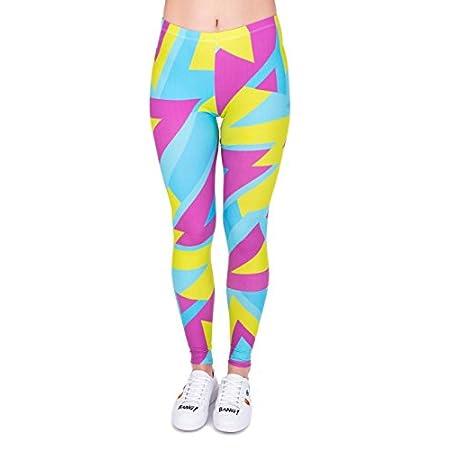 Kukubird Women's Supernova Unicorn Rainbow Digital Printed Tight Leggings, One Size 41c 2B5HNU6OL