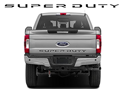 BDTrims | Tailgate Letters for Ford Super Duty 2017 2018 2019 Plastic Inserts (Black)