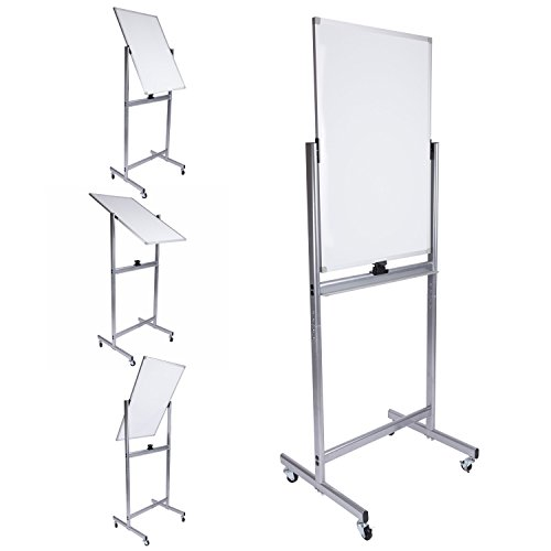 Rolling Dry Erase Whiteboard Easels - Mobile Dry Erase Magnetic Whiteboard-24(W) x 36