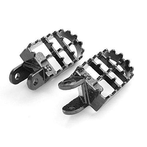 Honda Motocross Foot Pegs-CR80R, CR85R, XR250R, XR400R, XR600R, and More 1988-2012 Dirtbike Stomper Footpegs Krator FP005 Black Foot Rest