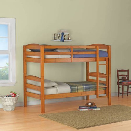 Price comparison product image Twin Over Twin Wood Bunk Bed,  Multiple Finishes (Pine)