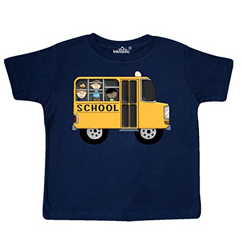 inktastic - School Bus Toddler T-Shirt 5/6 Navy Blue 5f95 (New School Buses)