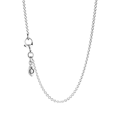 super mignon qualité 60% de réduction Pandora Pearl Silver Chain Necklace of Length 45cm 590412-45