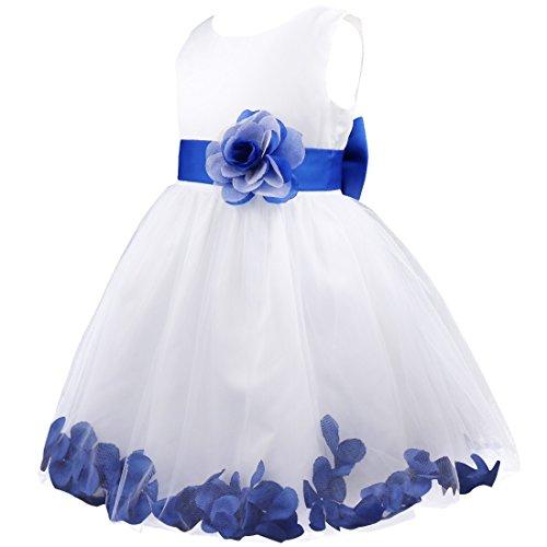 YiZYiF Flores Vestidos De Pricesa para Bautizo Bebé Fiesta Ceremonia Elegante Vestido Corto con Pétalos Sin Mangas Comunión Boda para Niña 2-14 Años: ...
