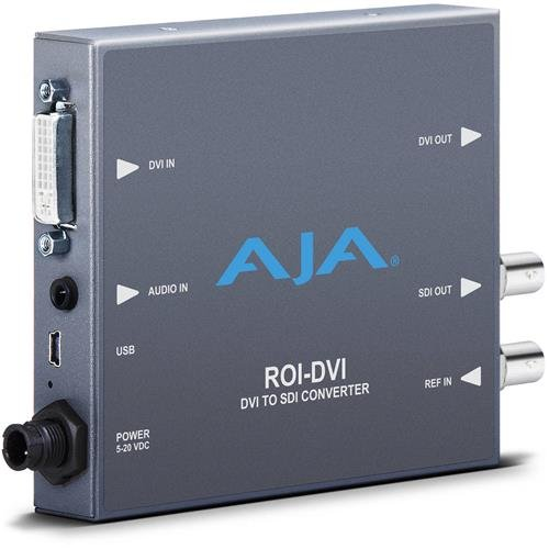 AJA ROI-DVI DVI to 3G-SDI Mini Converter with Region of Interest (ROI) Scaling ()