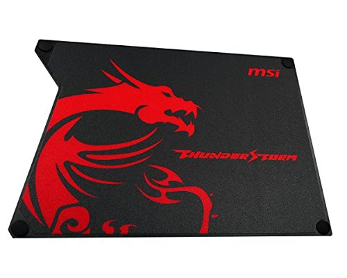 MSI Thunderstorm Aluminum Gaming Mousepad with Speed Surface Non-Slip Feet (Gf9-V000001-Eb9)