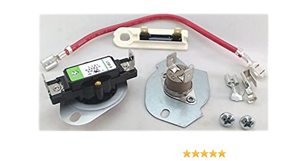 Amazon.com: Seneca River Trading Dryer Thermal Cut Out Kit and Fuse for  Whirlpool, Sears, 279816 and 3392519: AppliancesAmazon.com