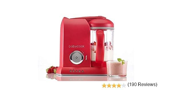 Béaba Babycook Solo - Robot de cocina, color rojo: Amazon.es: Bebé
