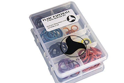 Empire Resurrection 3x color coded paintball o-ring rebuild kit by Flasc Paintball by Flasc Paintball