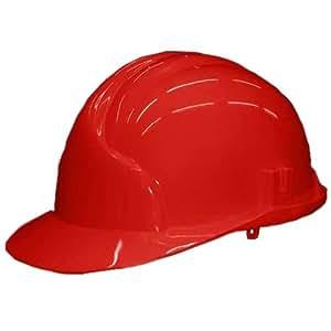 REIS - Casco de protección para obra (conforme a la norma EN 397), color rojo