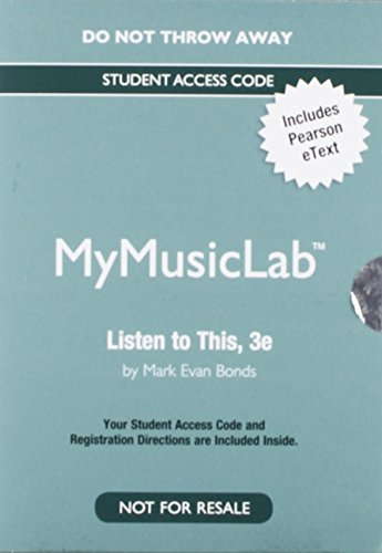 Listen To This Mymusiclab Etext Access