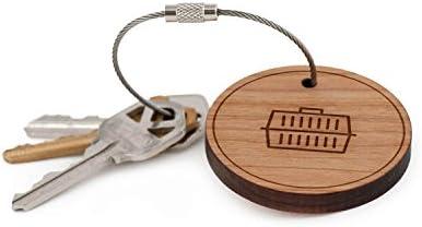 Llavero con forma de perro, madera Twist Cable llavero ...
