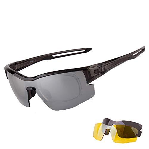Lentes con A Set para 3 De Protección Aili Hombre D Gafas Mujer UV Polarizadas Intercambiables Deportivas Deportivas 400 nxqpR0aPpw