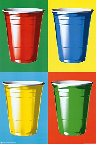 Posterservice Party Cups Colors Poster by Posterservice