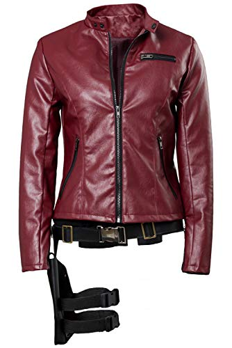 Womens Claire Redfield Red Jacket Made in Heaven Cosplay Costume]()