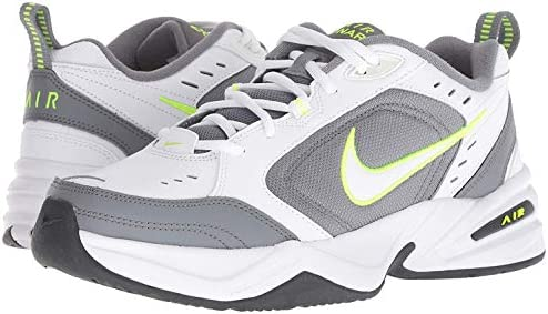 41c%2B9Uu85ML. AC Nike Men's Air Monarch IV Cross Trainer    Men's Nike Air Monarch IV Training Shoe sets you up for comfortable training with durable leather on top for support. A lightweight foam midsole with a full-length encapsulated Air-Sole unit cushions every stride in the Nike men's shoe. ImportedRubber soleShaft measures approximately low-top from archNIKE SHOES MEN: The Nike Air Monarch IV (4E) Training Shoe for Men sets you up for a comfortable training session with durable leather on top for support.DURABLE LEATHER: Men's sneakers are made with leather upper features for durability and support, while perforations provide airflow during every shoe wear.CUSHIONED COMFORT & DURABLE SUPPORT: A lightweight foam midsole with full-length encapsulated Air-Sole unit cushions every stride, providing all day comfort in your Nike shoes.