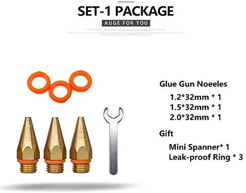 18Pcs /設定グルーガン銅ノズル小口径ロングショート大口径ホットレンチ/ガムカバーを送信するために、接着剤銃のアクセサリーを溶かします (色 : SET 1)