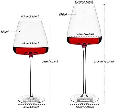 Lzpzz 25 oz Champagne Coupe Gafas, Cocktail Champagne Vidrio para Servir a un Manhattan, Martini, Aperitivo, Algonquin o Vino de Puerto (Size : 650ml)