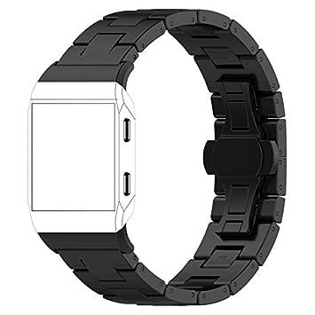 Fitbit Ionic Bracelet aimanté en Acier Inoxydable pour Montre connectée Fitbit Ionic Noir