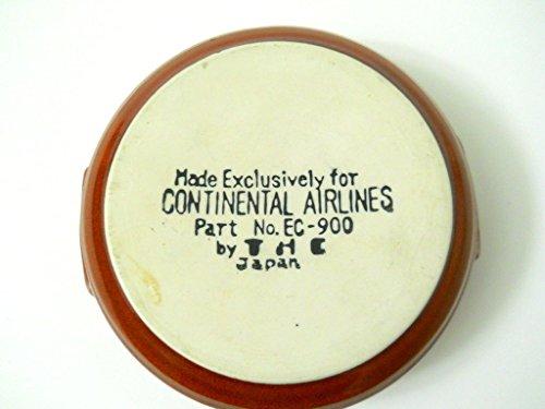 continental-airlines-brown-ribbed-dish-japan-mock-handles-vintage