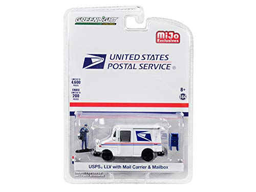 B07T576JHF Postal Mail Delivery Vehicle w/Mail Carrier & Mailbox Accessories Limited Edition to 4,600 Pieces 1/64 Diecast Model Car by Greenlight 51280 41c2BCNtu5iL