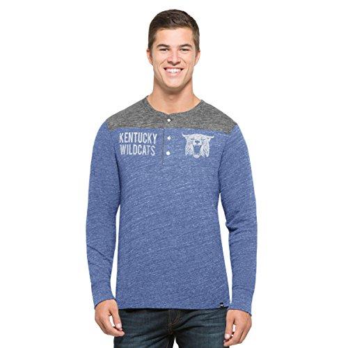 New Blue Wildcats Kentucky (NCAA Kentucky Wildcats Men's '47 Neps Henley Long Sleeve Tee, Medium, Coastal Blue)