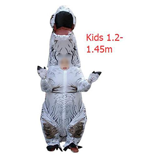 Dinosaur Suit Outfit Party Halloween Costume Adult,T-Rex White Kids,One Size -