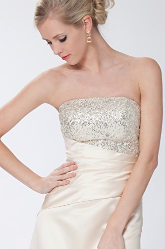 damas de Beige vestido sin noche de EDJ1620 las Gorgeous SEXYHER honor de Encuadre de entero tirantes cuerpo formal fv6Tzxwq7