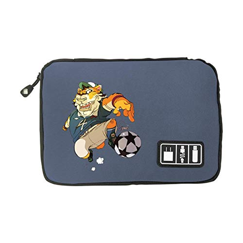 Electronic Accessories Travel Bag Football Player Tiger USB Flash Drive Case Bag Wallet, SD Memory Cards Cable Organizer ()
