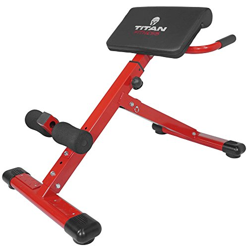 Titan Abs Back Hyper Extension Exercise Bench Roman Chair X Strength Training & Abdominal Toning