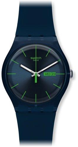 Swatch Men's SUON700 Quartz Navy Blue Dial Plastic Date  Luminous (Swatch Men Watches)