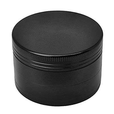 Flyox 4 Piece Spice Herb Grinder Black, Dimension: 52mm x 42mm from Flyox