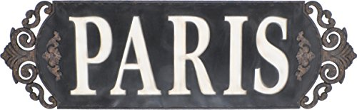 Paris Sign Wall Decor / Wall Hanging / Wall Accent (Distressed Grey)