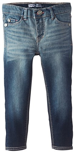 Levi's Little Girls' 710 Super Skinny Fit Classic Jeans, Lightscape, 2T