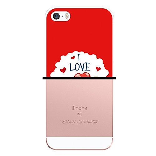 WoowCase Hülle Case für { iPhone SE iPhone 5 5S } Handy Cover Schutzhülle Teddybär I love you